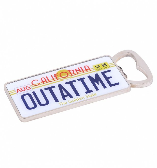 Back To The Future Outatime Numberplate Bottle Opener