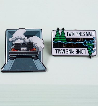 Back To The Future Pin Badge Set