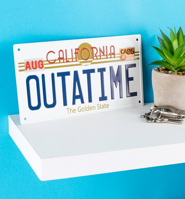 Back To The Future Replica Outatime Numberplate Tin Sign