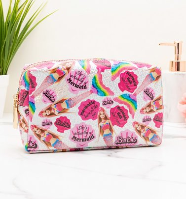 Barbie All Over Print Mermaid Wash Bag
