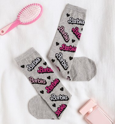 Barbie Logo Socks
