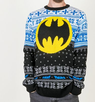 Batman Knitted Christmas Jumper