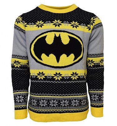 Batman Fair Isle Knitted Christmas Jumper