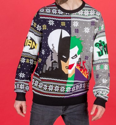 Batman Vs Joker Knitted Christmas Jumper