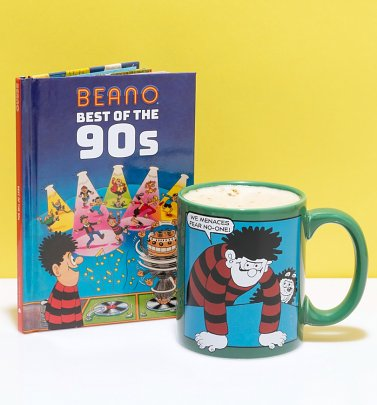 Beano Best of the 90s Book and Mug Gift Set