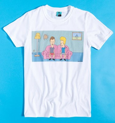 Beavis And Butt-Head Film Still White T-Shirt