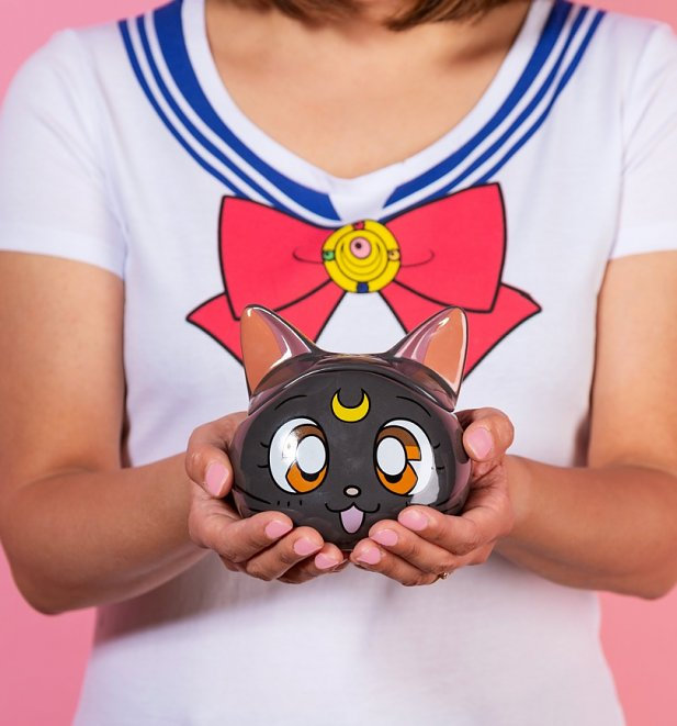 Black 3D Sailor Moon Luna Mug