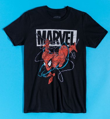 Black 90s Spider-Man T-Shirt