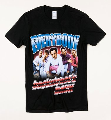 Black Backstreet Boys Everybody T-Shirt