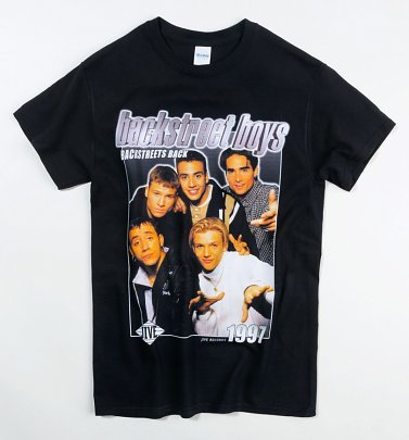 Black Backstreet Boys T-Shirt from Homage Tees