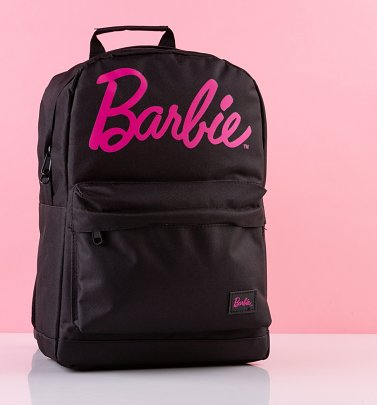 Black Barbie Logo Backpack from Spiral