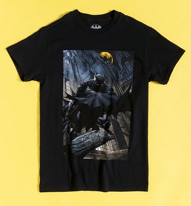 Black Batman Gotham City Night T-Shirt