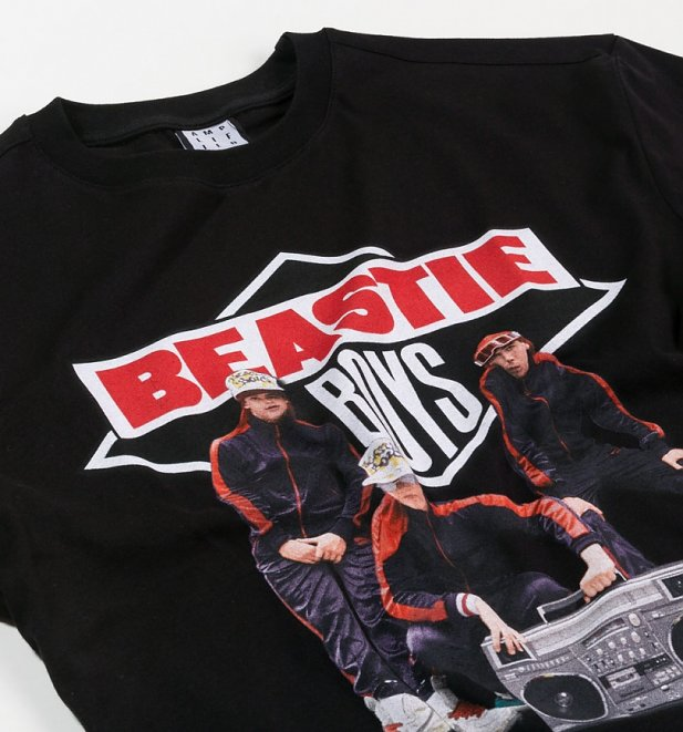 Black Beastie Boys Boom Box T-Shirt from Amplified