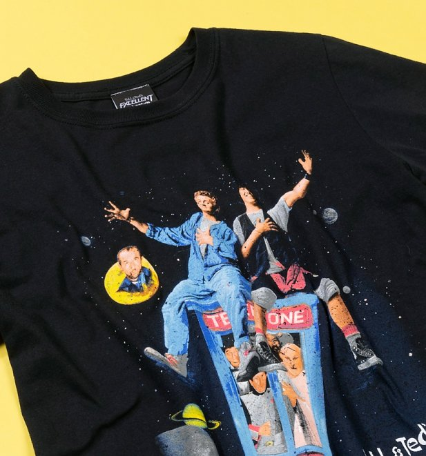 Black Bill & Ted Excellent Adventure T-Shirt
