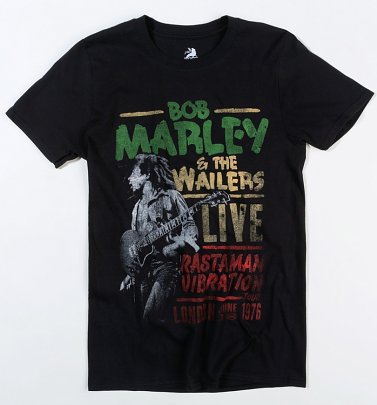 Black Bob Marley And The Wailers Live T-Shirt