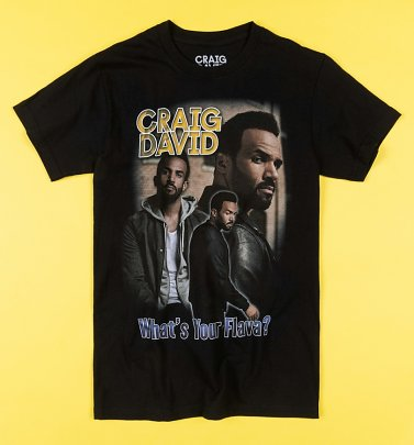 Black Craig David What's Your Flava T-Shirt