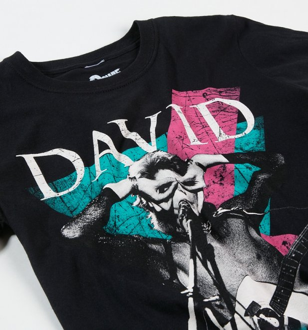 Black David Bowie Thunder T-Shirt
