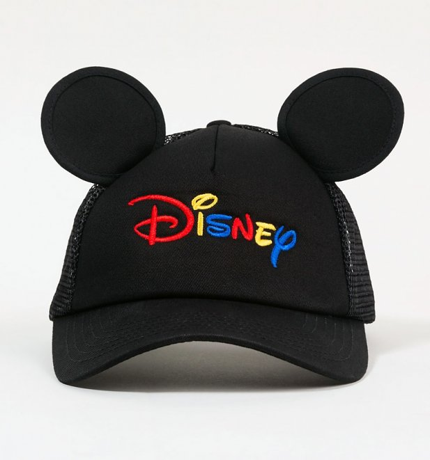 Black Disney Ears Embroidered Trucker Cap from Hype