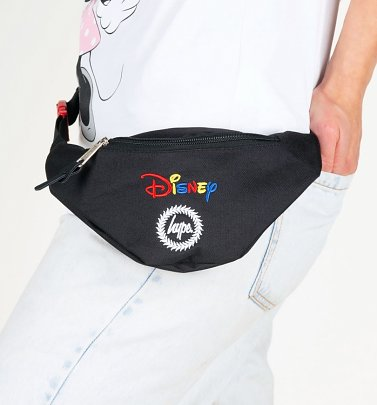 Black Disney Embroidered Logo Bum Bag from Hype