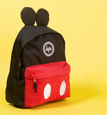 Black Disney Mickey Mouse Backpack With Ears from Hype