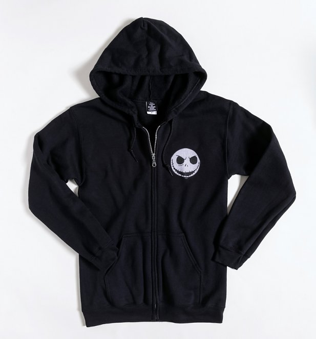 Black Disney Nightmare Before Christmas Zip Through Hoodie