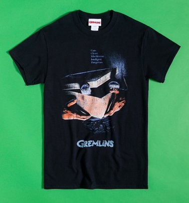 Black Distressed Gizmo Poster Gremlins T-Shirt