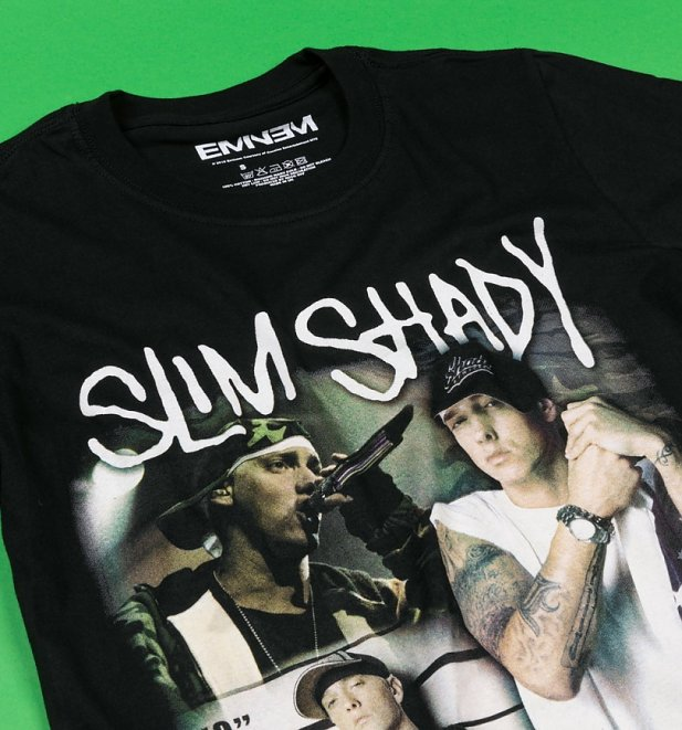 Black Eminem My Name Is Slim Shady T-Shirt