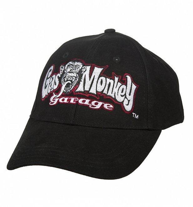 Black Fast N' Loud Gas Monkey Garage Logo Baseball Cap