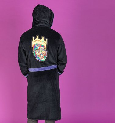 Black Fleece Biggie Smalls Crown Hooded Bath Robe
