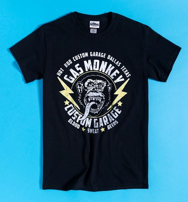Black Gas Monkey Custom Garage T-Shirt