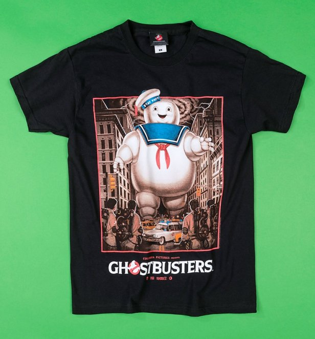 Black Ghostbusters Stay Puft T-Shirt