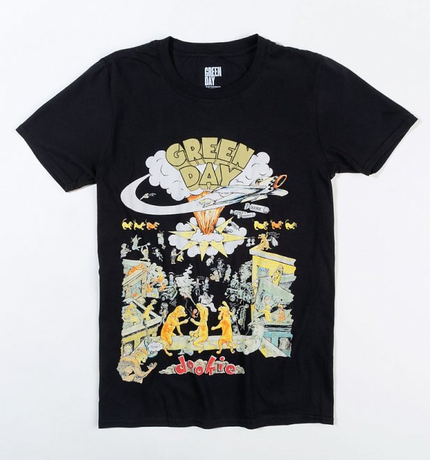 Black Green Day Dookie T-Shirt