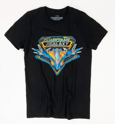 Black Guardians Of The Galaxy Vintage Milano T-Shirt