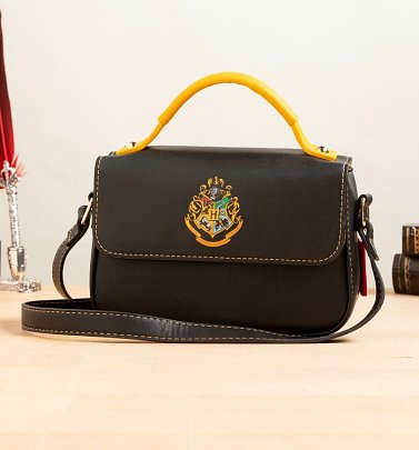 Black Harry Potter Hogwarts Crest Satchel Bag