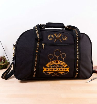 Black Harry Potter Hogwarts Gryffindor Quidditch Holdall Bag