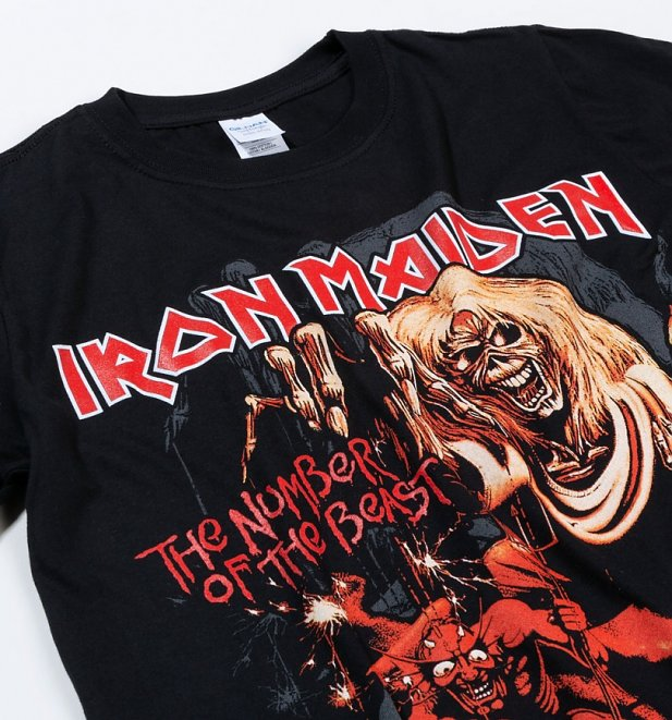 Black Iron Maiden Number Of The Beast T-Shirt