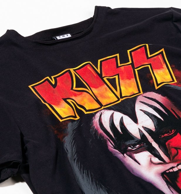 Black KISS Simmons Tongue T-Shirt from Amplified