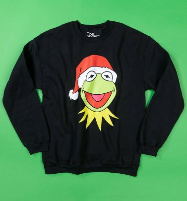 Black Kermit The Frog Christmas Jumper