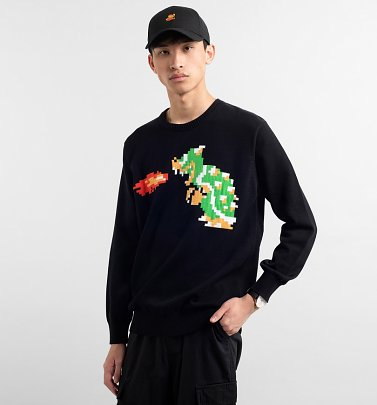 Black Knitted Bowser Nintendo Organic Cotton Jumper from Dedicated