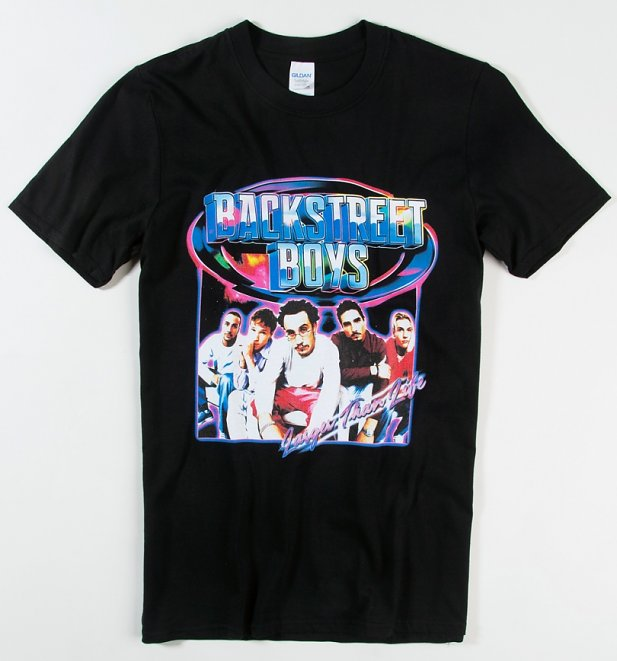 Black Larger Than Life Backstreet Boys T-Shirt