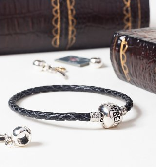 Black Leather Harry Potter Charm Bracelet For Slider Charms