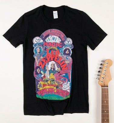 Black Led Zeppelin Electric Magic T-Shirt
