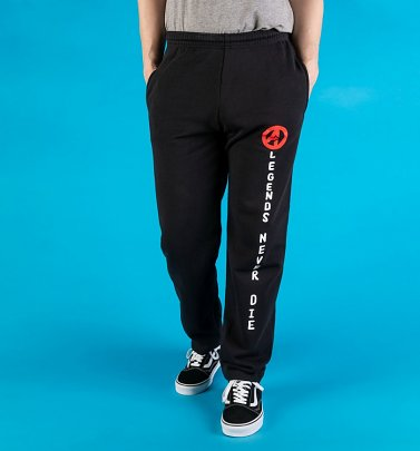 Black Marvel Comics Avengers Legend's Never Die Joggers