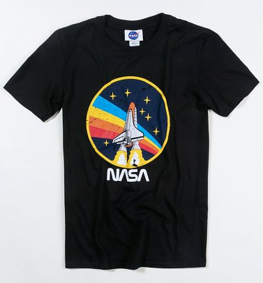 Black NASA Rocket T-Shirt