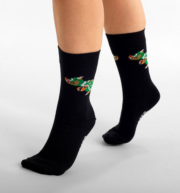 Black Super Mario Bowser Organic Cotton Socks from Dedicated