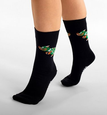 Black Nintendo Super Mario Bowser Organic Cotton Socks from Dedicated