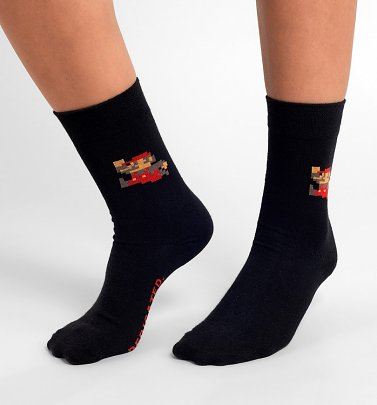 Black Nintendo Super Mario Organic Cotton Socks from Dedicated