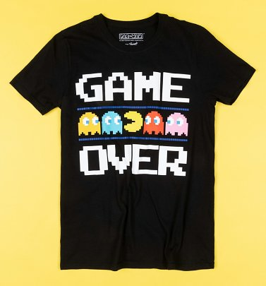Black Pac-Man Game Over T-Shirt