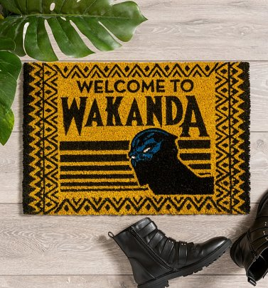 Black Panther Welcome To Wakanda Door Mat