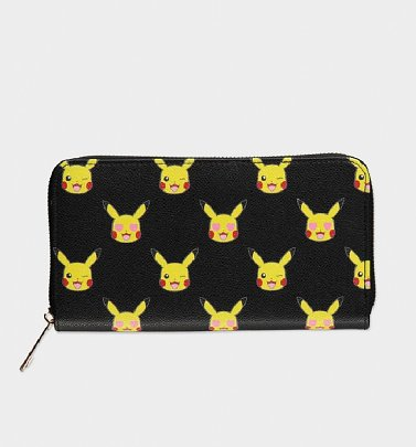 Black Pokemon Pikachu All Over Print Wallet from Difuzed